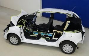 Voiture hybride essence / air comprimé