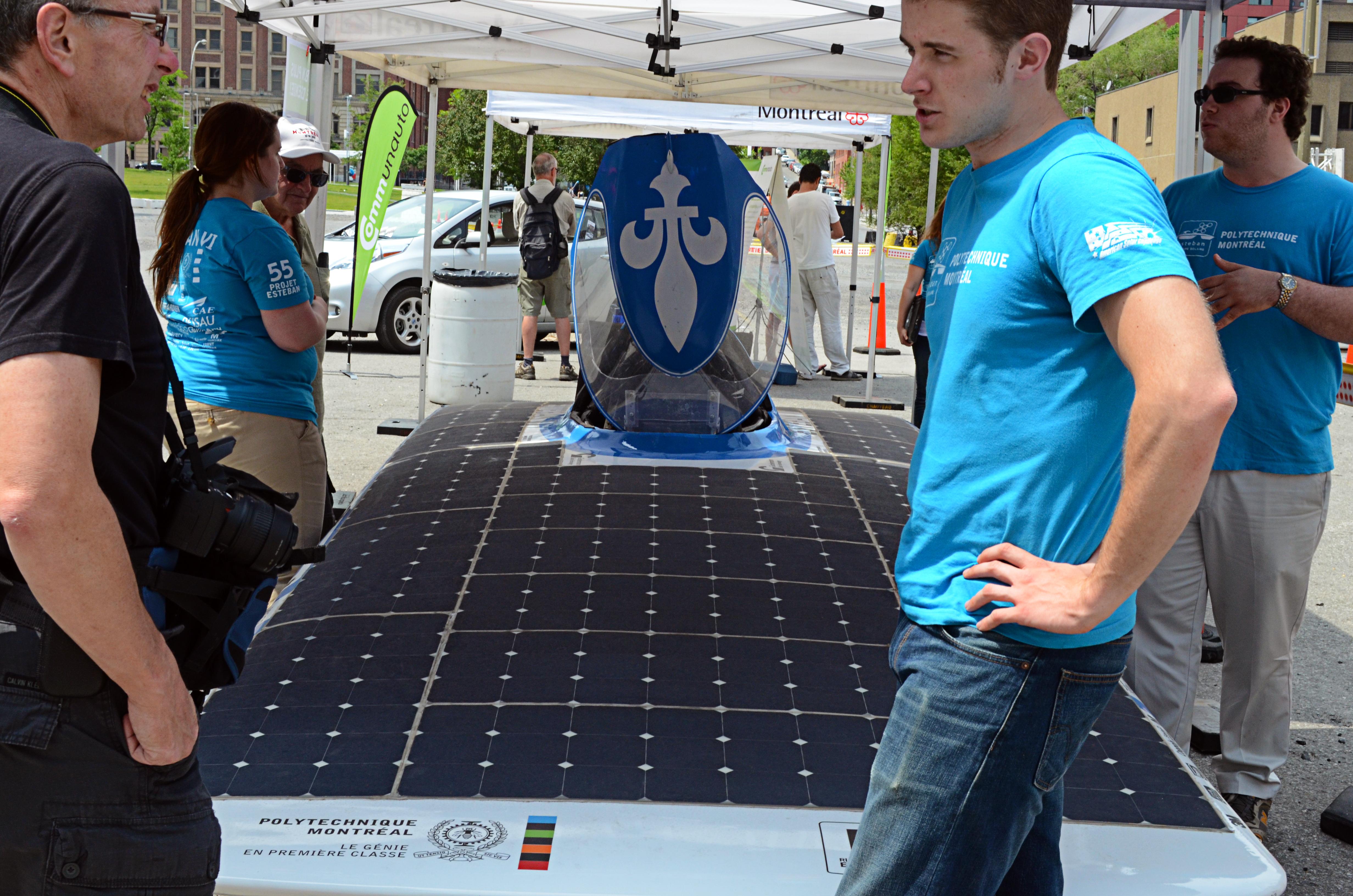 La voiture solaire Esteban, un projet d'étudiants de la Polytechnique